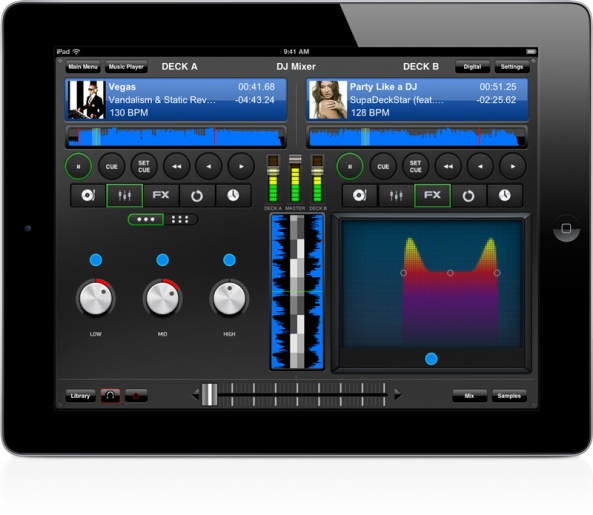 DJ Mixer Pro 4.0 EQ and FX