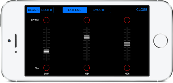 DJ Mixer II for iPhone EQ