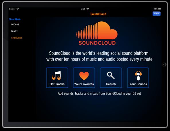 SoundCloud in DJ Mixer