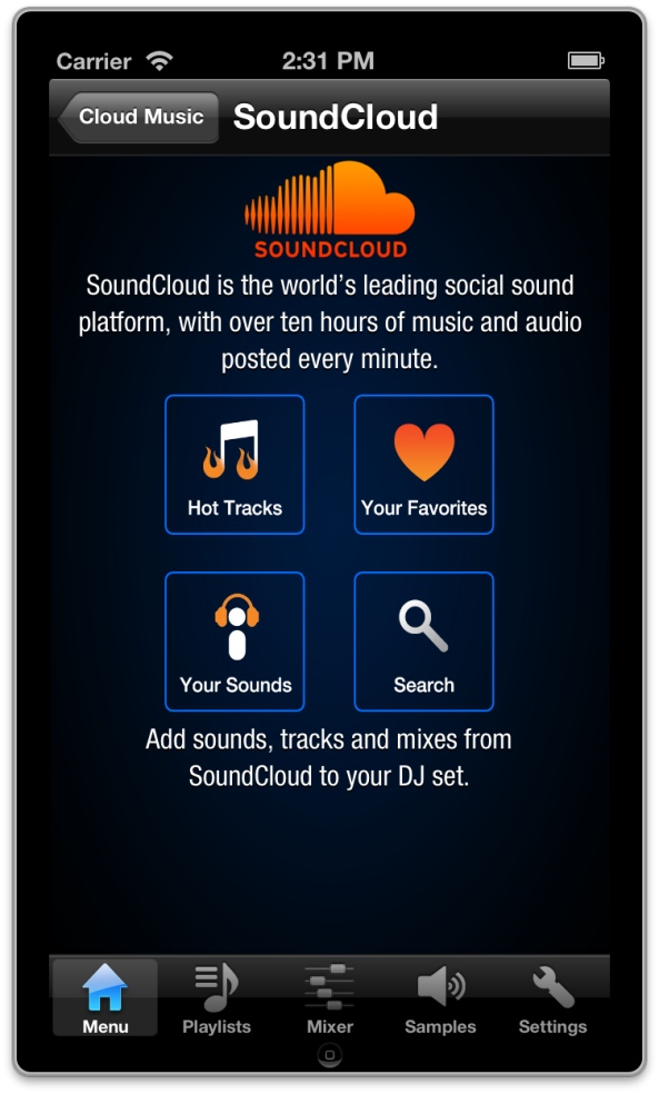 SoundCloud for DJ Mixer